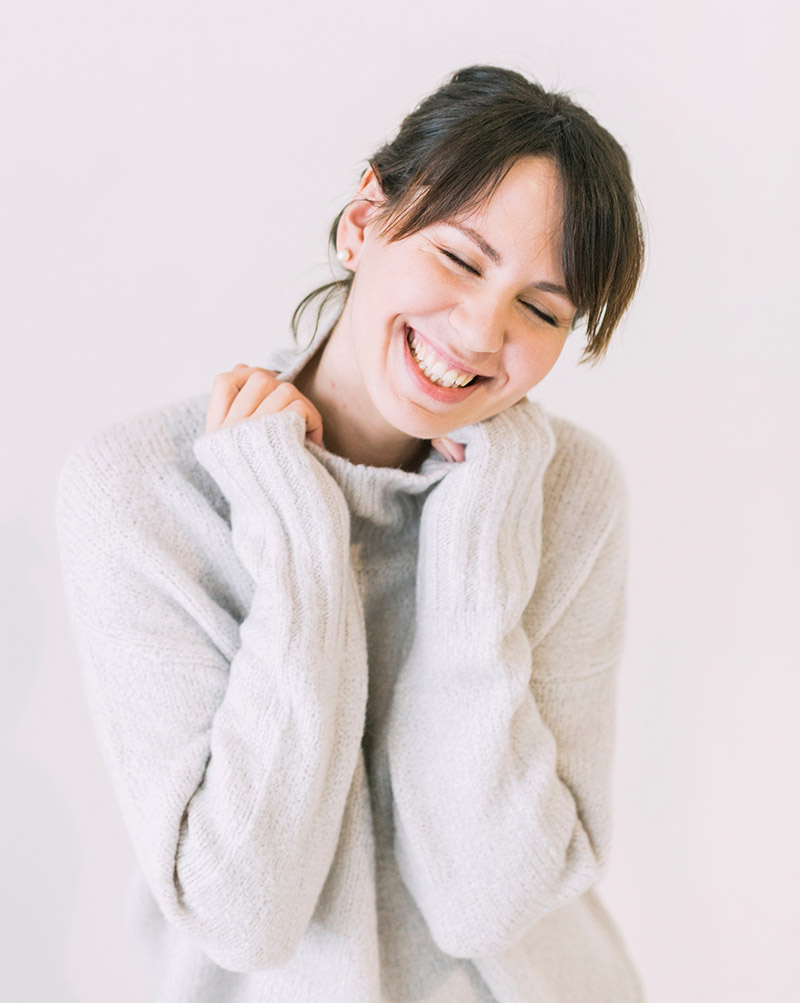 woman happy and smiling